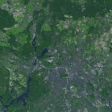 Satellite View Map Satellite View Of Berlin 2005 Full Size