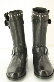 womens black leather motorcycle boots stuart weitzman boots stuart weitzman trotter black studded