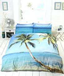 bedding sets tropical island beach palm tree photo print duvet