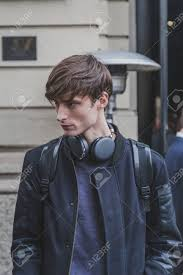 gucci 2015 heir styles for men milan italy january 19 beautiful model outside gucci fashion