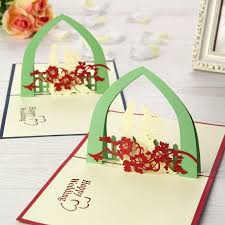 nice new 3d handmade card greeting cards happy wedding handmade