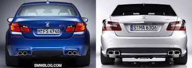 bmw amg series comparison 2012 bmw m5 vs 2012 mercedes e63 amg