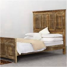 High Headboard Bed Golden Rustic Wood Platform Bed W Footboard High Headboard