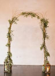 wedding arches made of branches birch pole curly willow wedding arch with lanternsgreenery