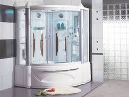 innovative corner tub shower combo with enclosure decofurnish