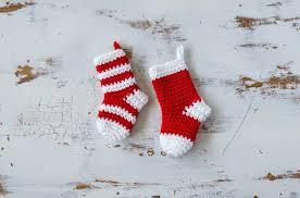 stockings crochet mini stockings christmas ornament sewrella