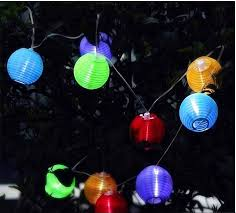 Outdoor Lantern String Lights by Outdoor Solar Powered Led Lantern String Lighting Christmas Tree