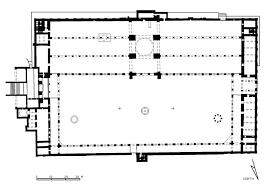 floor plan of mosque jami al umawi al kabir damascus floor plan and perspective