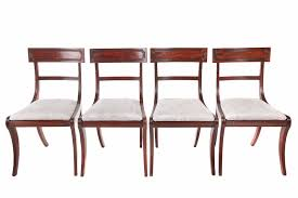 Antique Regency Dining Chairs Set Of Four Regency Mahogany Sabre Leg Dining Chairs