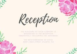 wedding reception cards wedding reception card templates canva