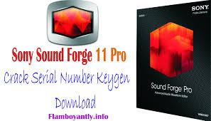 sony sound forge 11 pro serial number keygen download