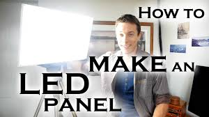 how to make a super bright led light panel for video work etc