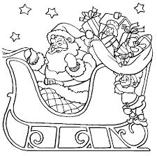 santa sleigh ride christmas coloring 12 christmas