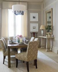 best dining room ideas to greet the christmas earlier homesfeed modern dining room design idea with creamy chairs with pattern and white chandelier and wooden table