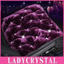 housse de si es auto ladycrystal de luxe strass universel coussin housse de siège de
