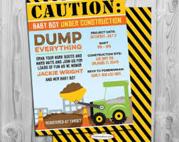 construction baby shower baby construction construction baby shower invitation