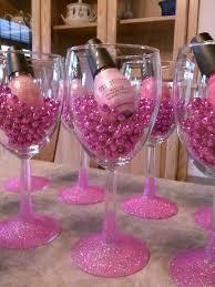 bridal shower party favor ideas bachelorette party favors nail glitter wine glass idea