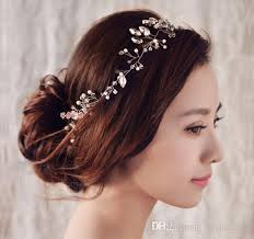 2018 new women headband handmade hair ornaments pearl jewelry