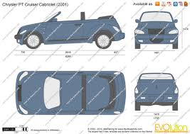 the blueprints com vector drawing chrysler pt cruiser cabriolet