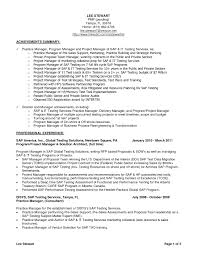 Job Resume Matter by Sap Project Manager Resume The Best Resume