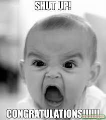 Funny Congratulations Meme - congratulations it s a food baby meme food