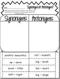reading worksheets antonyms and synonyms antonym worksheet