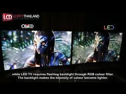 oled vs led tv side by side comparison youtube