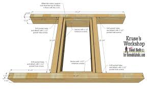 Free Wood Patio Table Plans by Remodelaholic Building Plans Patio Table With Built In Drink