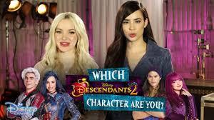 descendants 2 u2013 dove cameron and sofia carson take the d2 quiz