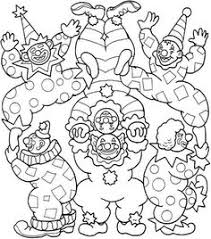 download free printable circus elephant joker coloring pages