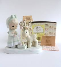 vintage precious moments merry deer figurine 522317