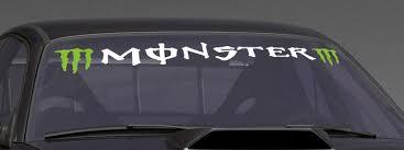 product green monster custom vinyl sticker windshield banner decal
