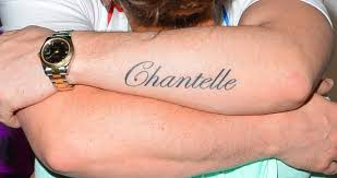 chantelle connelly u0027s boyfriend gets her name tattooed down his arm