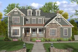 craftsman home plan 4 bedroom 4 bath craftsman house plan alp 025g allplans