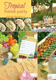 themed parties idea entertaining tropical themed party ideas free printables