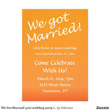 post wedding party invitations theruntime com