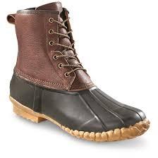 guide gear men u0027s cedar leather duck boots 680929 winter u0026 snow