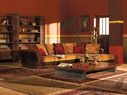 contemporary indian living room design with brown and yellow blend