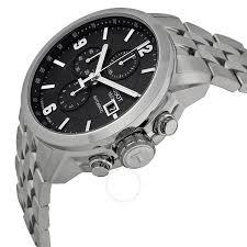 stainless steel bracelet tissot images Tissot prc 200 automatic chronograph black dial stainless steel jpg