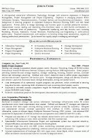 Crisis Management Resume It Manager Resume Examples It Project Manager Free Resume Samples