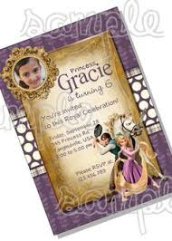 tangled invitation for rapunzel birthday party digital printable