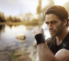 Rugged Outdoor by Outdoor Portrait Of A Great Looking Tough Guy Stock Photo Picture