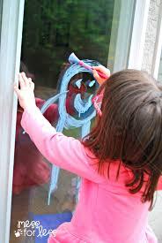 kids window art mess for less