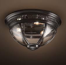 Restoration Hardware Flush Mount Ceiling Light Hotel Flushmount