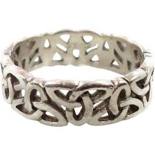 celtic knot ring celtic knot ring sterling silver celtic band vintage ring