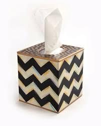 mackenzie childs zig zag tissue box cover