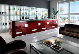 bar counter glass upright illuminated slik wine sifa spa