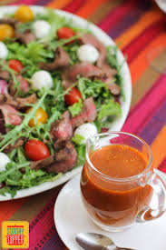 roasted tomato vinaigrette beef salad sundaysupper sunday