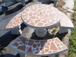 round patio stone patio table sets the cement barn manufacturers of quality