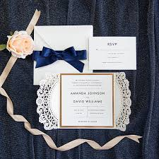 wedding invitations navy gold and navy blue glitter wedding invitations with